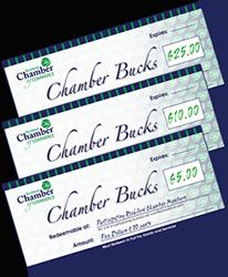 Gift Certificates Chamber Bucks
